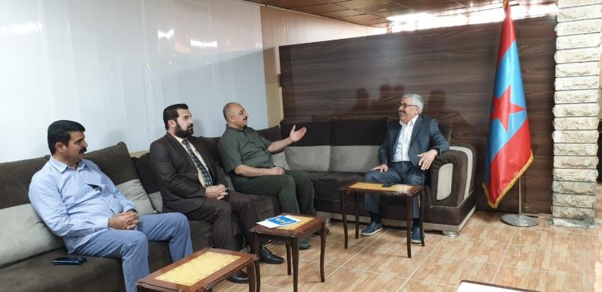 سکرتێرى گشتیى YNDK سەردانى حزبى رزگاری كوردستان دەکات