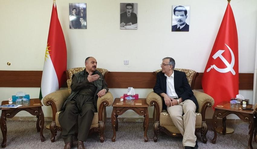 سکرتێرى گشتیى YNDK سەردانى حزبى شیوعى كوردستان دەکات